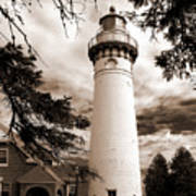 Seul Choix Point Lghthouse Mi Art Print