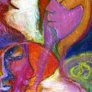 Seven Faces Art Print