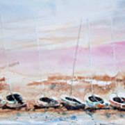 Seven Little Boats Art Print