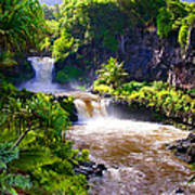 Seven Sacred Pools Maui Art Print