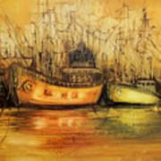 Seven Seas Art Print by Fatima Stamato