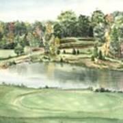 Seventeen Green The Trails Golf Course Art Print by Lane Owen