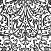 Seventeenth Century Parterre Pattern Design Art Print