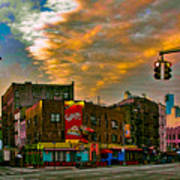 Seventh And Bleeker At Sunrise Nyc Art Print