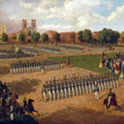 Seventh Regiment On Review. Washington Square. New York Art Print