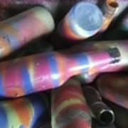 Seventies Bottles Art Print