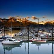 Seward Alaska Boat Marina Art Print