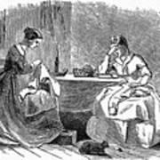 Sewing, 19th Century Art Print