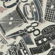 Sewing Scenes Art Print