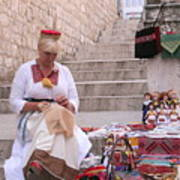 Sewing Souvenirs In Old Dubrovnik Art Print