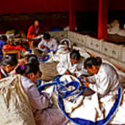 Sewing Tapestries Art Print