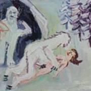 Sex With A Yeti Art Print