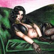 Sexy Flirt Art Print
