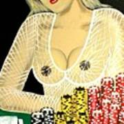 Sexy Poker Girl Art Print