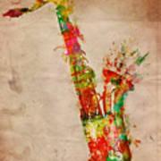 Sexy Saxaphone Art Print by Nikki Smith