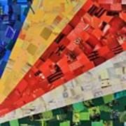 Seychelles Flag Art Print