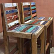 Shabby Chic Chairs Art Print