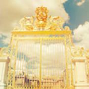 Shabby Chic Gold Gate Versailles Art Print
