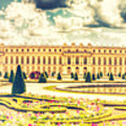 Shabby Chic Hdr Panorama Versailles Paris Art Print
