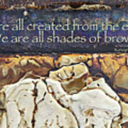 Shades Of Brown Art Print