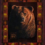 Shadow Grizzly Art Print by JQ Licensing