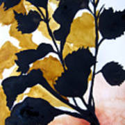 Shadow Hibiscus Art Print