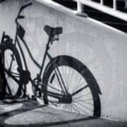 Shadow Of A Bike At Carolina Beach Art Print