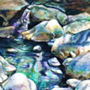 Shadow Play In Mission Creek Art Print