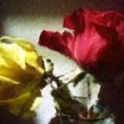 Shadow Roses Art Print
