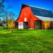 Shadows On The Barn Tennessee Farm Art Art Print