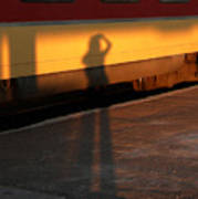 Shadows On The Platform 2 Art Print