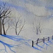 Shadows On The Snow Art Print