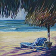Shady Beach Art Print