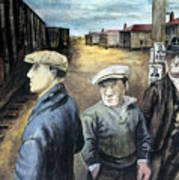 Shahn: Three Men Art Print