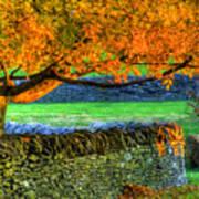 Shaker Stone Fence 1 Art Print