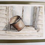 Shakertown Bucket Art Print