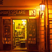 Shakespeares' Bookstore-prague Art Print by John Galbo