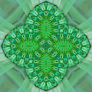 Shamrock In Abstract Art Print
