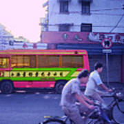 Shanghai Pink Bus Art Print