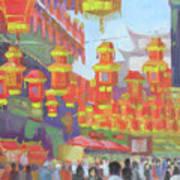 Shanghi Lanterns II Art Print