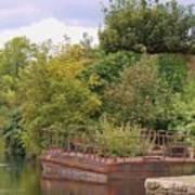 Shannon River Barge Art Print