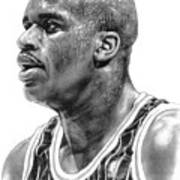 Shaq O'neal Art Print by Harry West