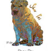 Shar Pei Pop Art Art Print