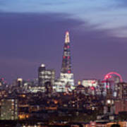 Shard Oxo Tower London Eye Walkie Talkie From Balfron Tower Art Print