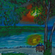 Shared Sunset Hamilton  Art Print