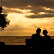 Sharing A Sunset Art Print