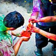 Sharing Colors Sharing Happiness Art Print