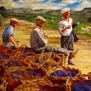 Sharing The Harvest Art Print
