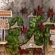 Shark Town Art Print