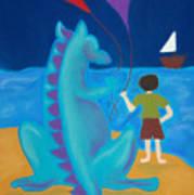 Sharlie With Kites Art Print